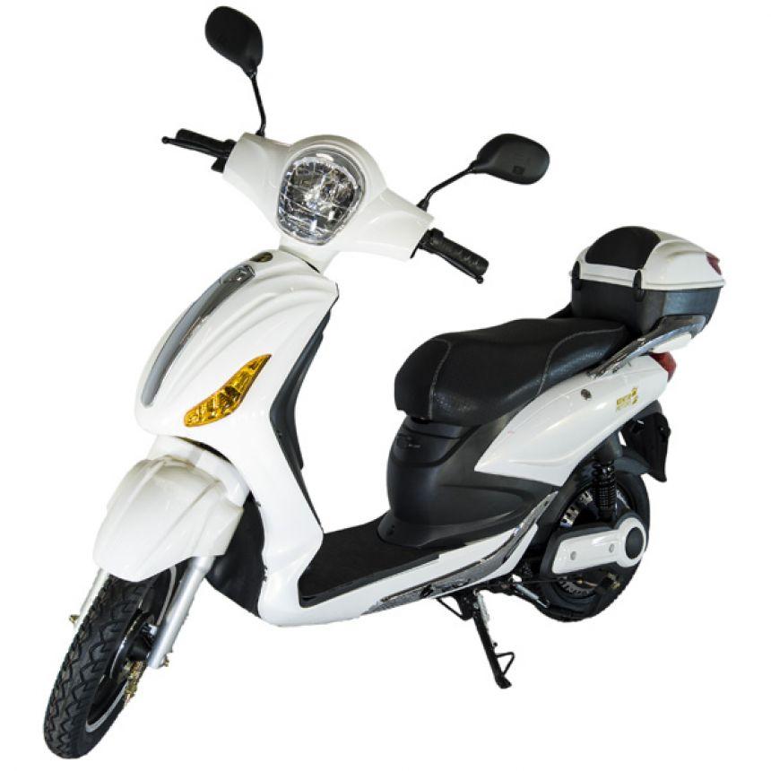 e-Scooter, White & Silver PURKU